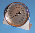 oven thermometer, self standing alu, 300°C